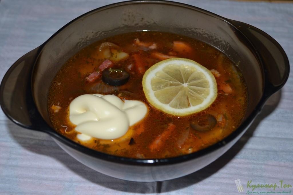 Солянка с грудинкой рецепт с фото