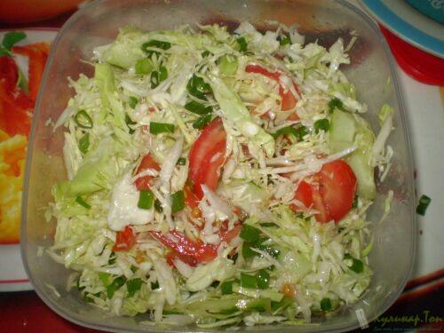 Рецепты из капусты и помидор