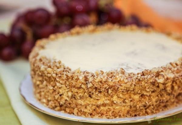 Торт грецкими орехами фото рецепт
