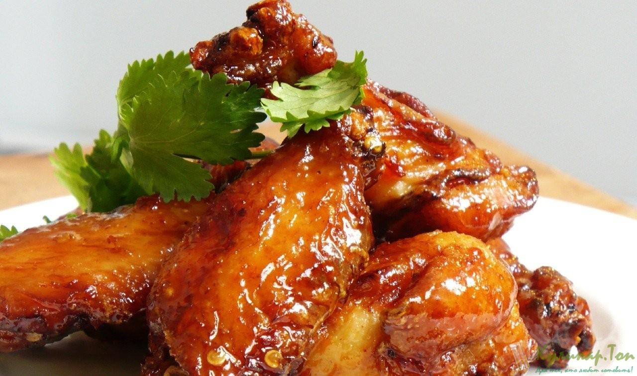 Крылья в медово соевом маринаде рецепт