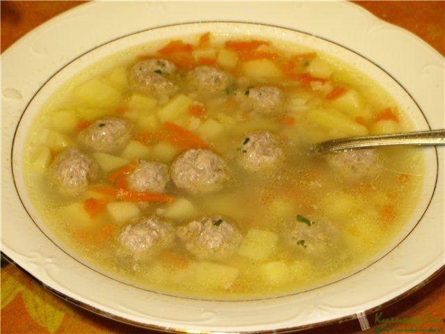 Суп из фрикаделек рецепт