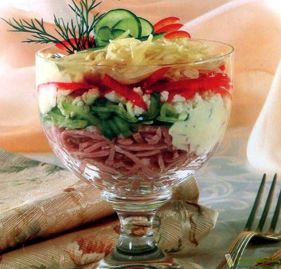 Салат коктейль с ветчиной рецепт пошагово