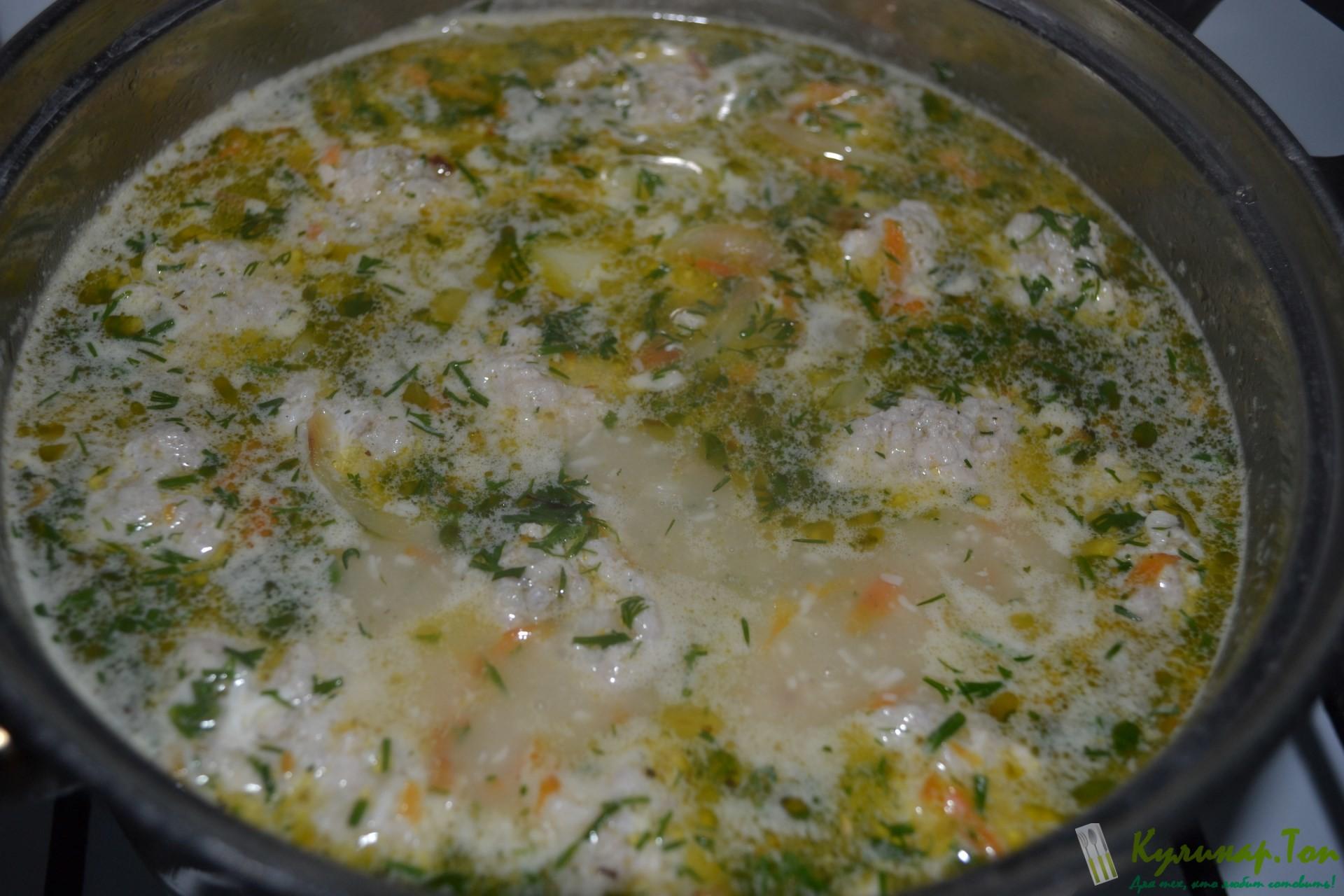 Сырный суп с фрикадельками рецепт пошагово