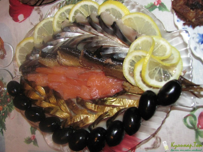 Как красиво оформить рыбную нарезку Кулинар.Топ