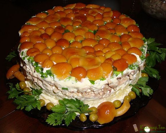 Рецепты салата полянка с