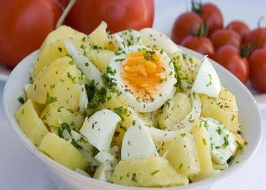 Салат из яиц мяса картошки