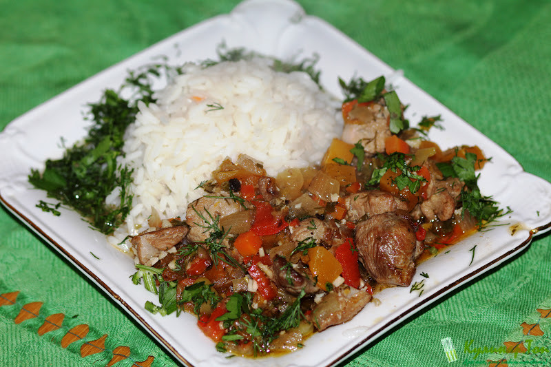 Тушеное мясо индейки рецепт
