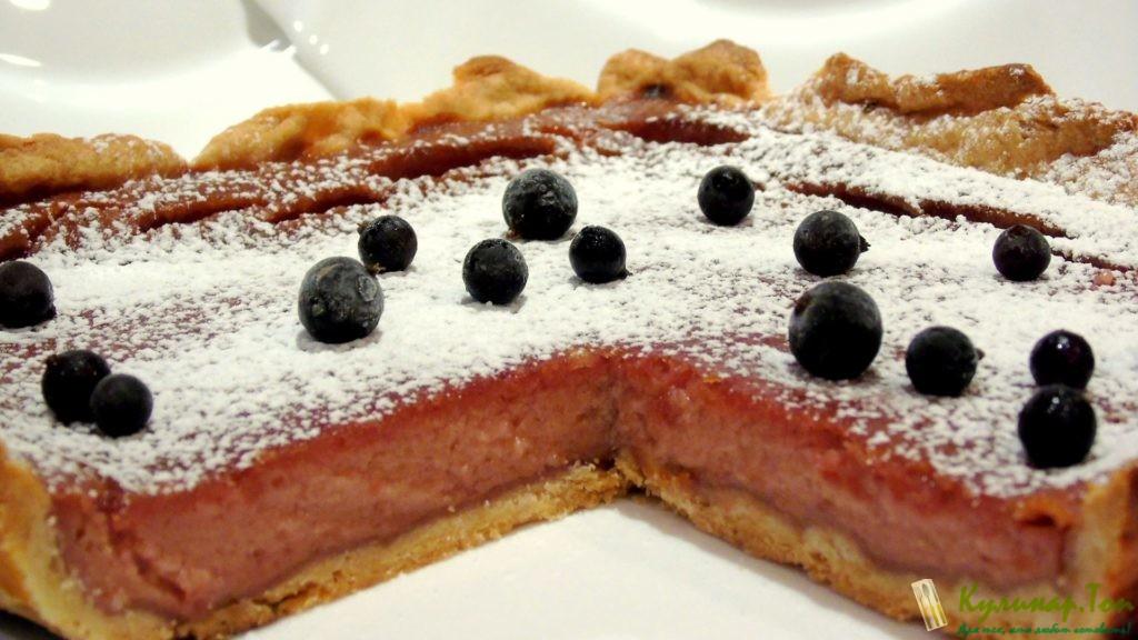 Пирог вареньем смородиной рецепт фото
