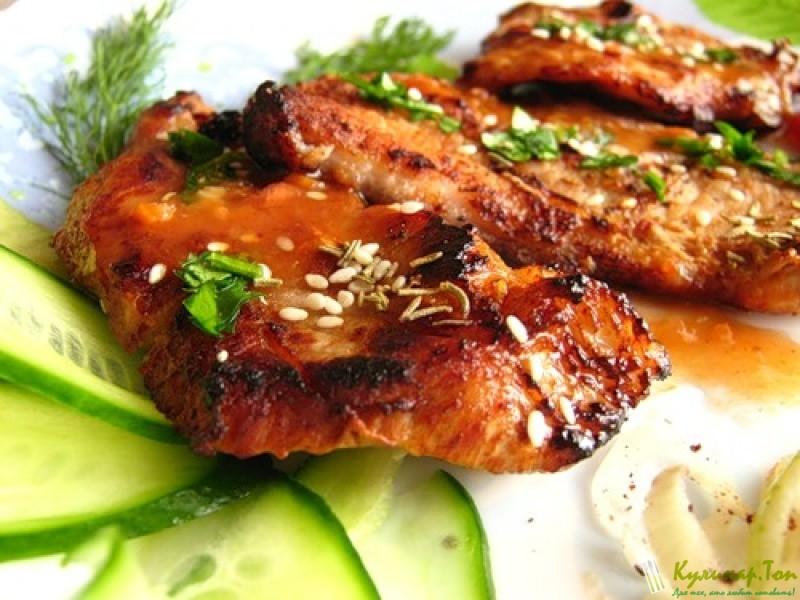 мясо в медовом соусе с фото
