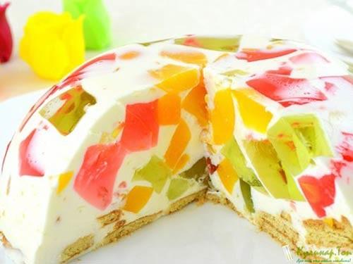 Фото торт битое скла