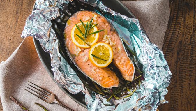 Красная рыба запеченная в фольге с овощами рецепт пошагово