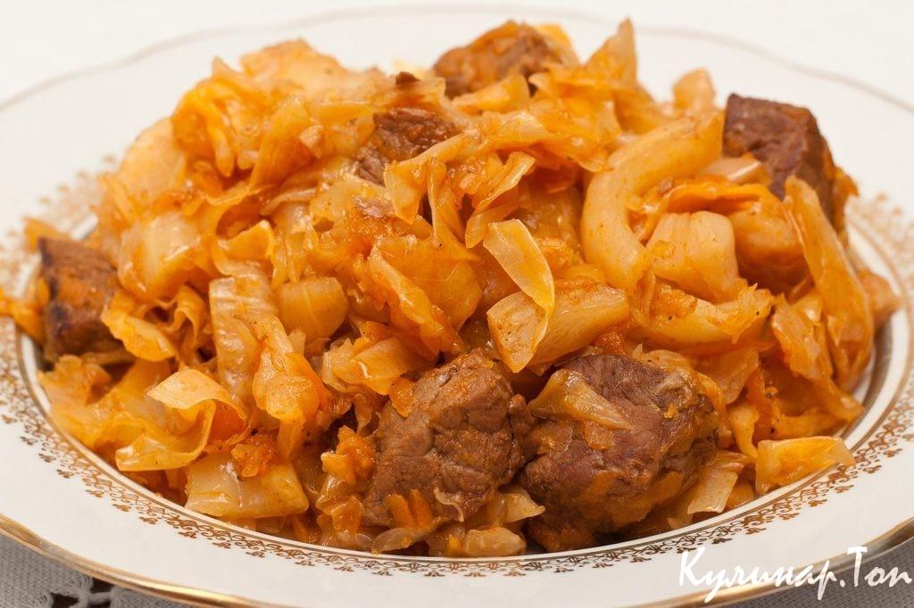 Как тушить капусту с картошкой и мясом рецепт пошагово