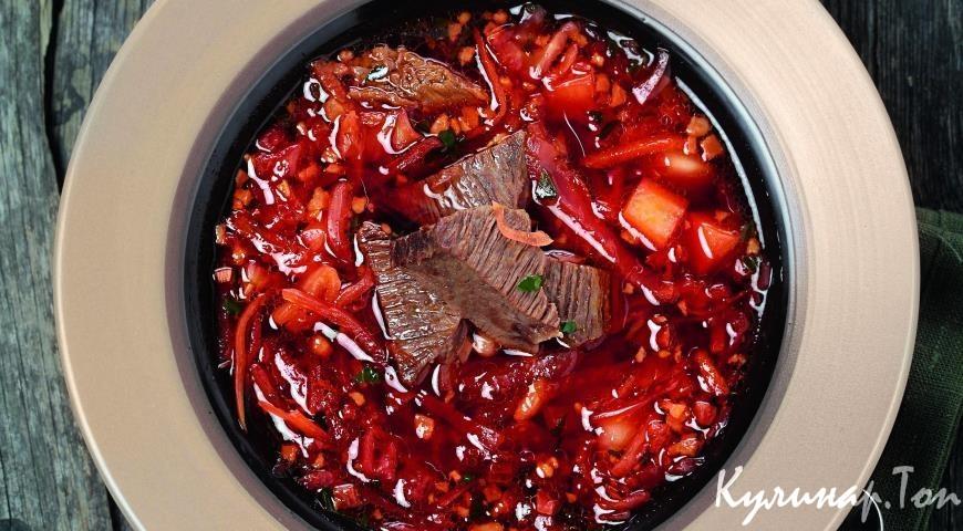 Борщ классический со свеклой рецепт пошагово