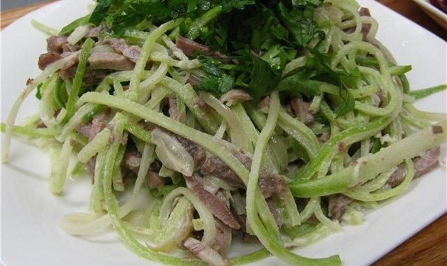 Салат из редьки с мясом рецепт с