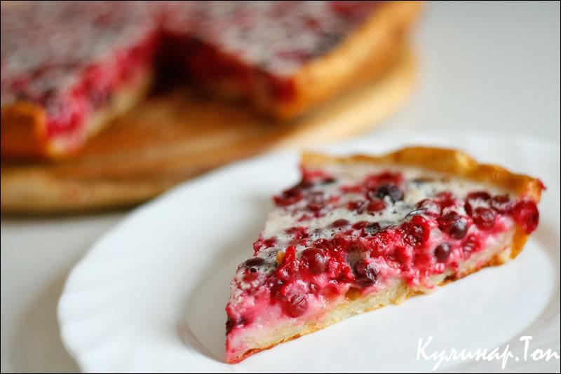 Пирог с клюквой рецепт из дрожжевого теста