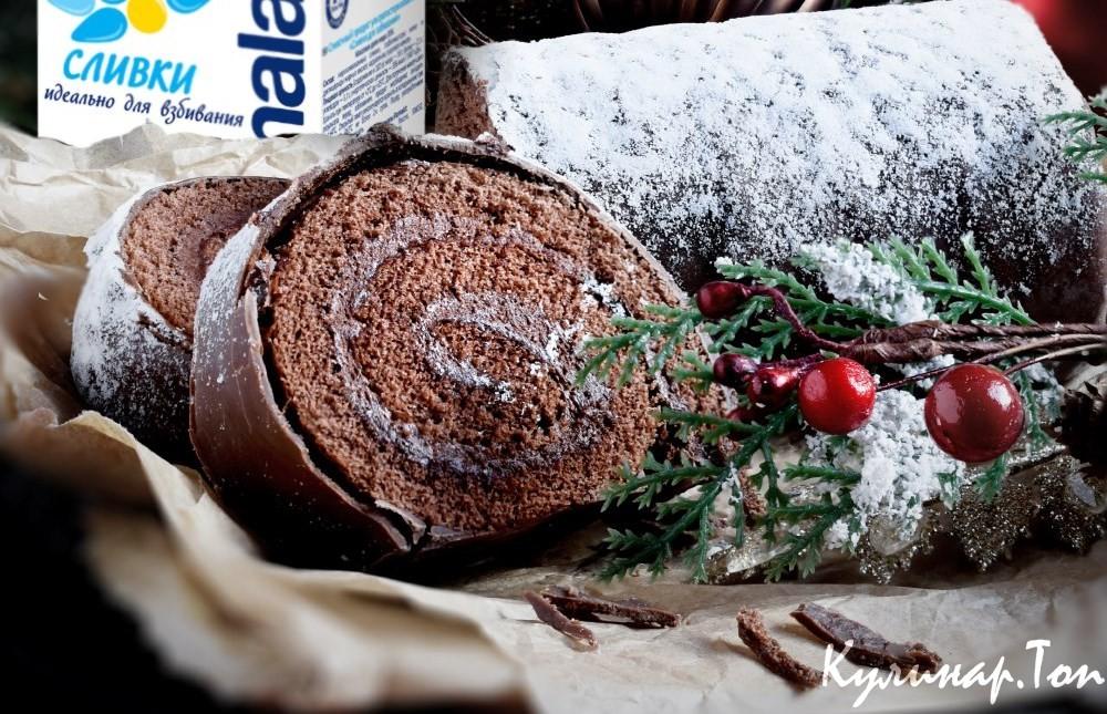 Шоколадное полено рецепт
