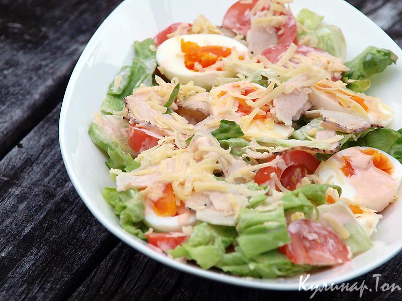 Рецепты салатов с курицей и яйцом