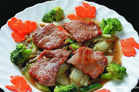 Рецепт свинины с брокколи