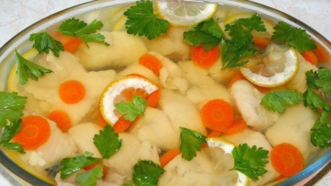 Рецепт заливной рыбы судак
