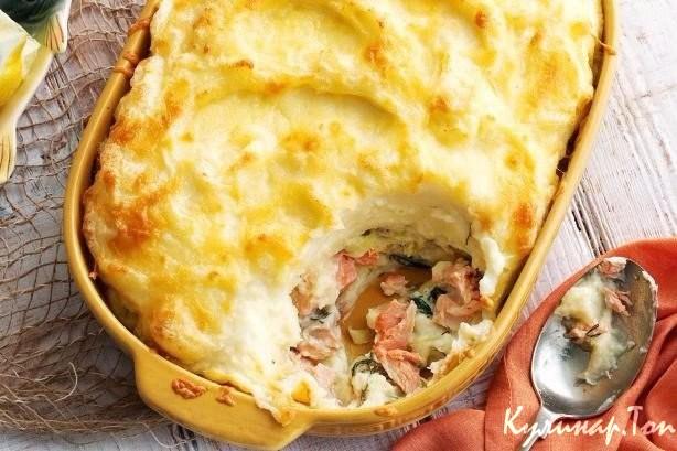 Рыбная запеканка с картофелем рецепт с фото