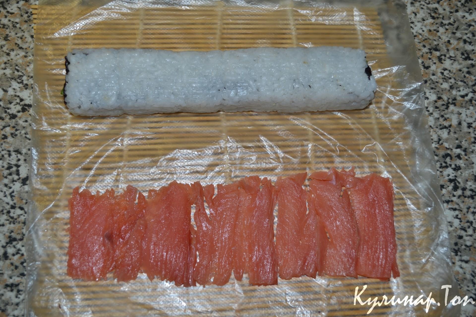 Роллы без листа нори в домашних условиях рецепт пошагово