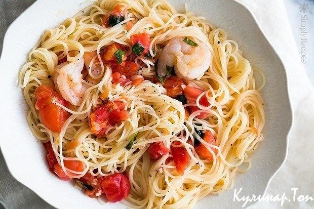 Рецепт паста с креветками пошагово
