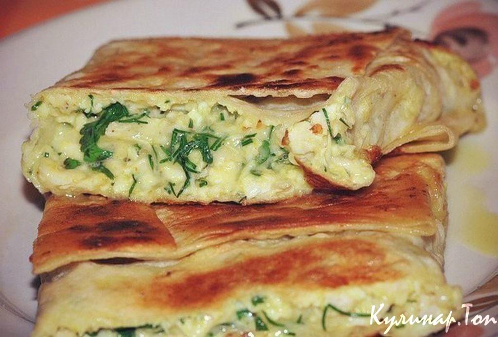 Пирог из лаваша с сыром и грибами в духовке рецепт