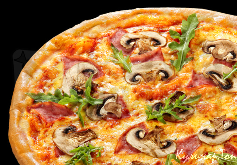 пицца в духовке рецепт с грибами