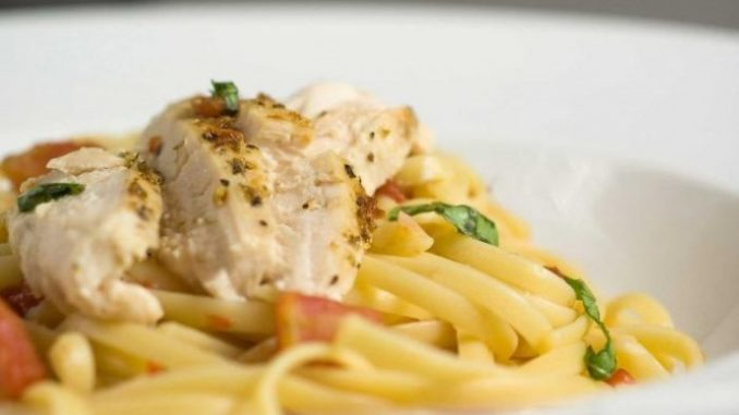 Спагетти с куриным филе рецепт с фото