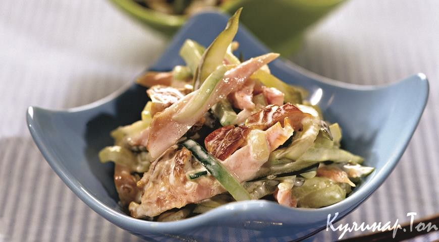 Салат из куриной копченой грудки рецепты