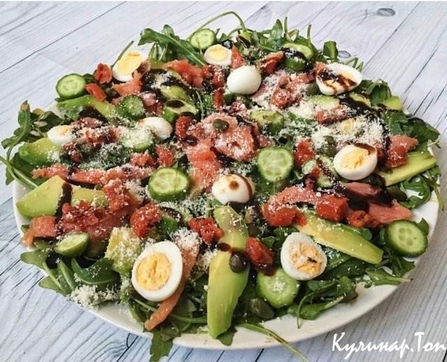 Салат из слабосолёной сёмги рецепт с
