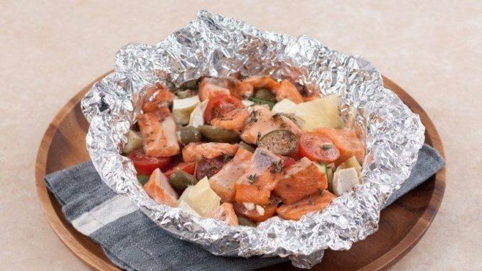 Рецепты форели запеченные с овощами фото