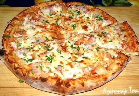 Домашняя пицца курицей рецепт фото