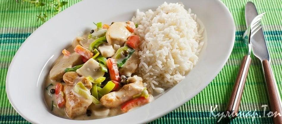 Рис с овощами курица