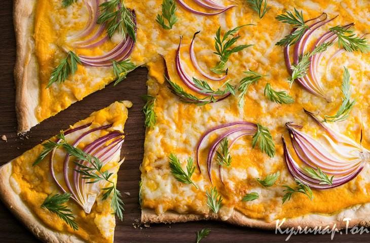 Пицца со сливочным соусом рецепт