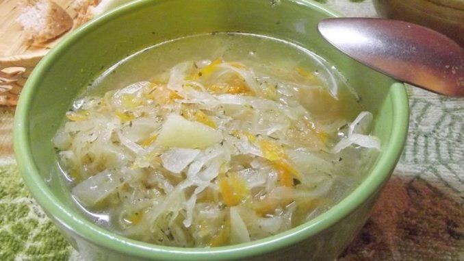 Рецепт постные щи из квашеной капусты