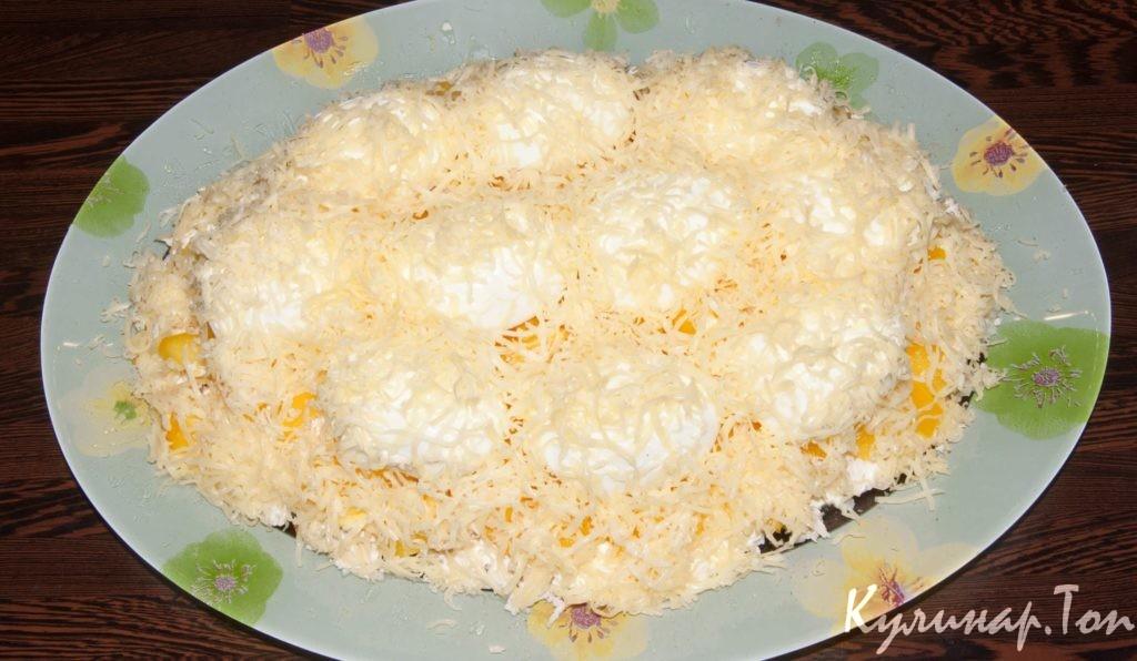 салат снежок с фото с курицей