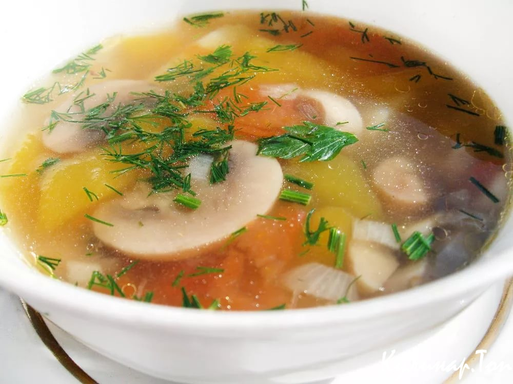 Рецепт супа с грибами пошагово
