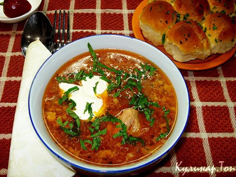 Борщ украинский рецепт с пампушками с фото пошагово
