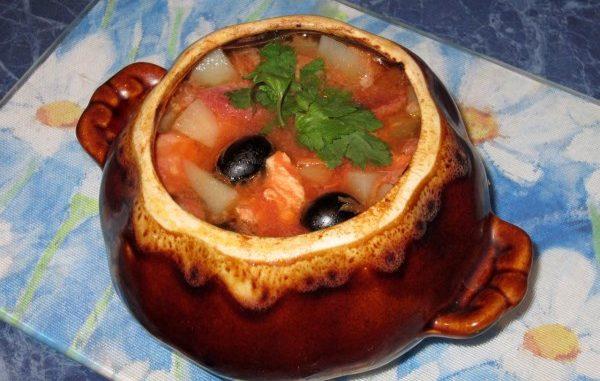 Солянка горшочке рецепт фото