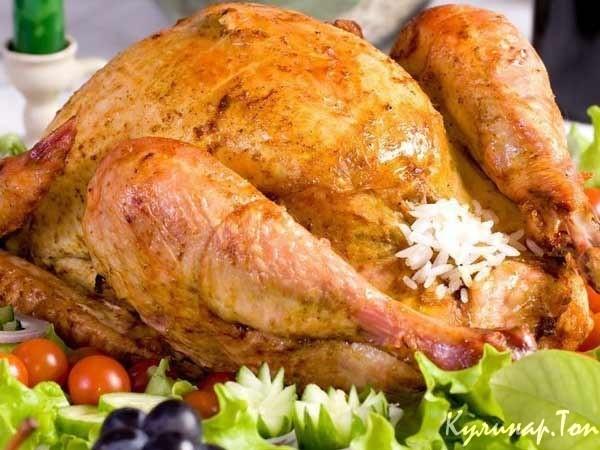 Фаршированная курица в рукаве рецепт фото