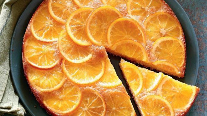 Пирог с апельсинами простой фото