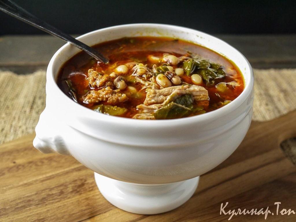 Фасолевый суп рецепт со свининой