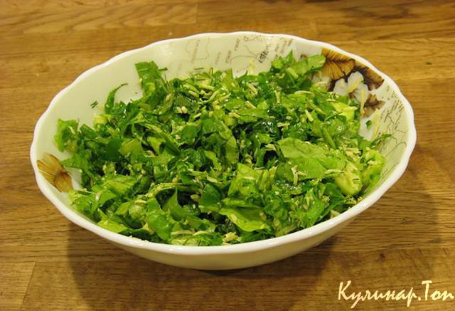 Как приготовить листья салата