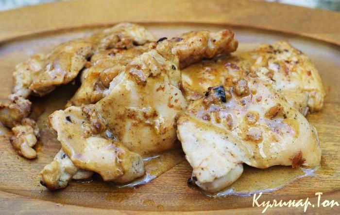 Курица со сливками на сковороде пошаговый рецепт с
