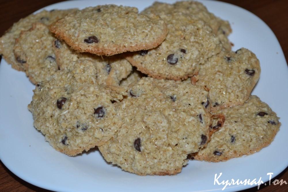 печенье с овсяных хлопьев рецепт с фото пошагово