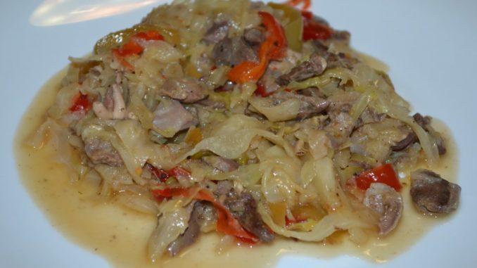 Рецепт тушеной капусты с курицей фото рецепт пошаговый