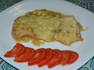 Пангасиус с сыром в фольге
